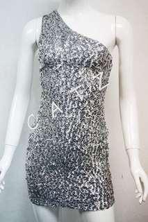 < CATZ >  Sequin Dress Party Dress Cocktail Sequin Dress Retro Dress