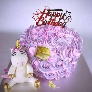 Fatty Unicorn Rosette Cake