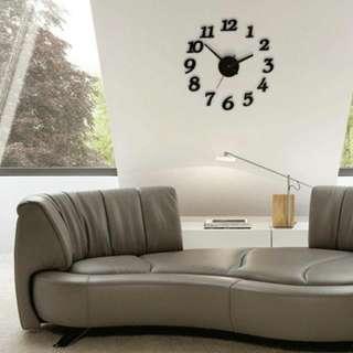[Brand New] DIY Wall Clock Black #payday30
