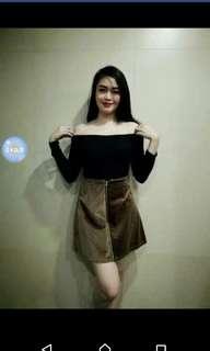 Velvet Brown Skirt