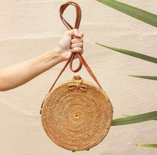 Rattan Bag Ribbon Clip