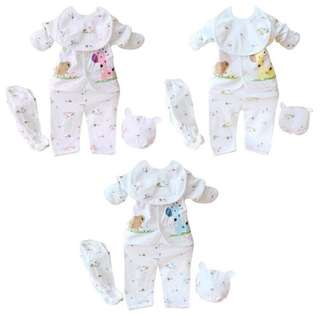 SB 043 5PCS Unisex Baby Cute Set Wear