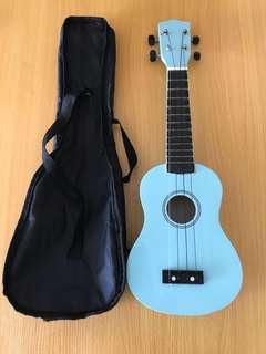 """Soprano Blue Ukulele (21"""")"""