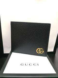 ORIGINAL Gucci GG Marmont leather bi-fold wallet