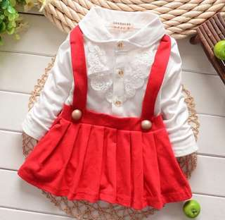 SB 044 Girl Fake 2PCS Cute Lace Dress