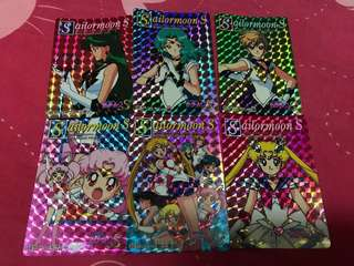 Sailormoon 美少女戰士閃咭(日本版)1994年 (一套六張)