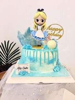 Disney Alice in Wonderland Cake Topper Figurine Toy Fondant Toppers Figure Birthday not Qposket Decoration