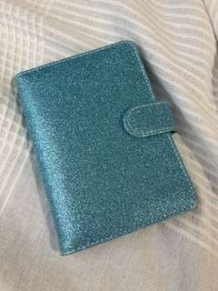 Blue Shimmer Passport Holder
