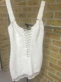 For the love of lemons white dress