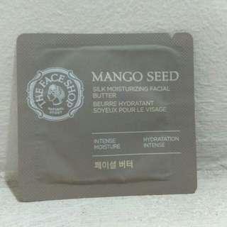 The face shop mango seed silk moisturizing facial butter sample trial