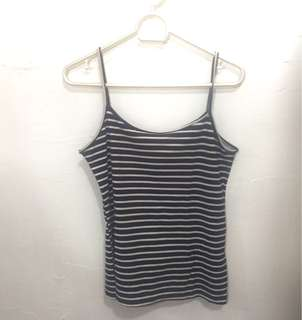 Basic Striped Black and White Tank Top