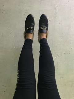 Gucci leather fur slippers 毛毛拖鞋 37