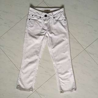 Burberry Capri Pants white denim