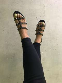 Valentino rock stud Slippers sandals 37