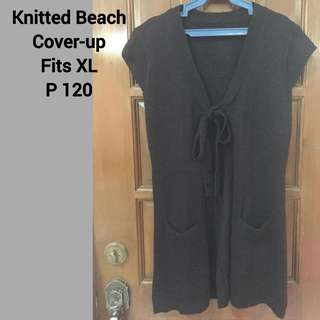 Knitted Black Cover-up