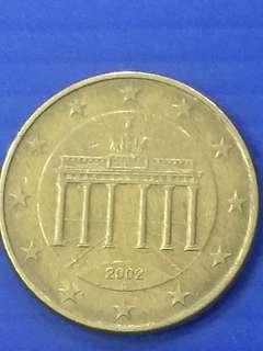 Euro 50 cent Y2002