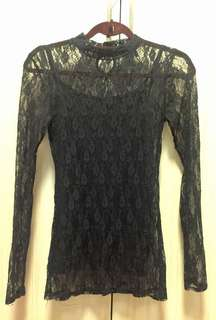 Forever21 Black Lacey Top