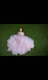 Vera Wang inspired pink floral dress