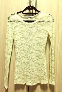 Forever21 White Lacey top
