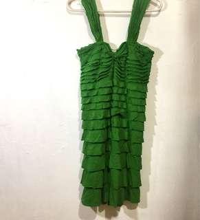 Max Studio Green Ruffled Dress