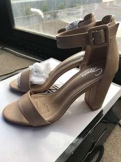 Spurr Nude Heel Sandals