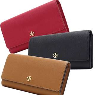 Tory Burch EMERSON envelope continental wallet 3 colors available