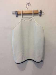 White halter tank top