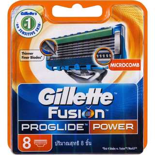 Gillette Fusion Proglide Power Shaver Cartridges 8pcs