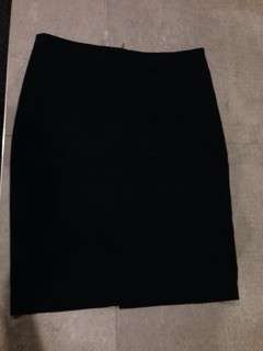 Size L- ZARA black work midi skirt