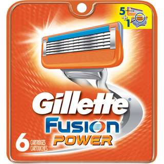Gillette Fusion Power Razor Shaver Cartridges (6pcs)