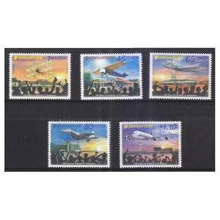 SINGAPORE 2011 100 YEARS OF AVIATION IN SINGAPORE COMP. SET OF 5 STAMPS IN MINT MNH UNUSED CONDITION