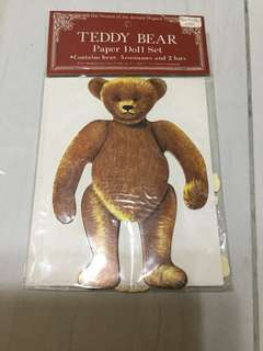 TEDDY BEAR PAPER DOLL SET 1979