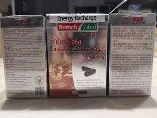 Borsch Med 100% Lingzhi & Cordyceps Powder Capsule