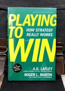 # Highly Recommended 《Bran-New Hardcover + Harvard Business Review Press + Powerful & Effective Framework That Demystifies and Simplifies Strategy》A.G.Lafley (Former P&G CEO) & Roger Martin - PLAYING TO WIN : How Strategy Really Works