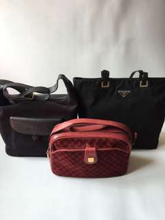 Authentic Prada Burberry and Celine