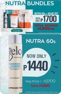 Belo glutathione 60s and gift set