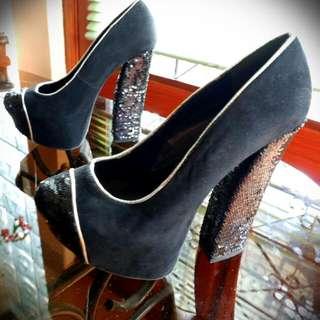 Chunky Sequinned Heels