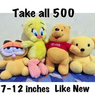 Take all Preloved Stuffed toys