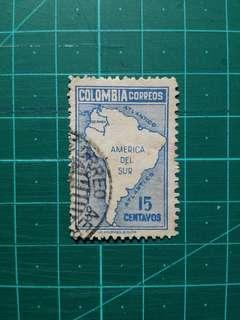 [贈品]1946 哥倫比亞 地圖通用票 舊票一套