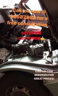 *HAPPY CUSTOMER!* CAR AIR CON SERVICING & CAR BATTERY REPLACEMENT ! CAR AIRCON SERVICING SUCH AS CAR COOLING COIL CHANGE AND CAR COMPRESSOR CHANGE CAR FILTER CHANGE call em @ 96682885 NOW for a free consultation !