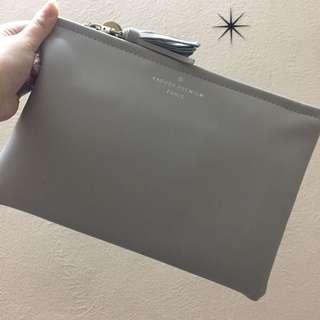 Grey Clutch bag
