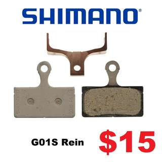 Shimano Brake Pad G01S For XTR, XT, SLX, Deore-------- (XTR M9020 XT M8020 M8000 M785 SLX M7000 M675 M315 MT2 MT4 MT5 MT5E MT6 MT7 MT8 Trail) Dyu