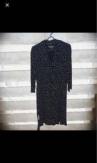 Dress bigsize polkadot