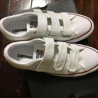 🚚 全新 Converse 白色帆布鞋