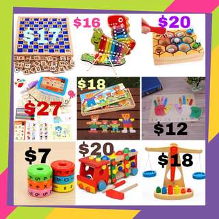 🚚 Educational Toys Wooden toys In stock