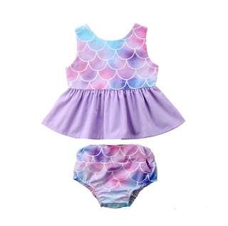 Little Mermaid Baby Girl Top + shorts