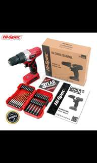 Apollo Hi-Spec Tools 8v鋰電電批套裝(配鑽頭和螺絲刀頭)