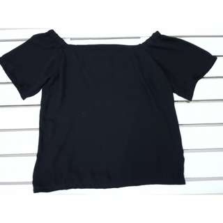 Black plain off shoulder