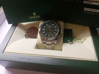 (Sold)勞力士Rolex 116400 GV milgaussV頭卡92新