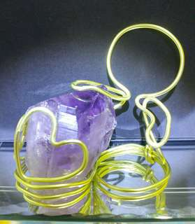 鋁線架配紫晶原石